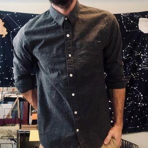 Gray Volcom Button Down Shirt